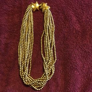 Vintage signed Carolee gold faux pearl necklace